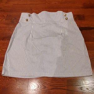 H&M High-Waisted Pinstripe Pencil Skirt